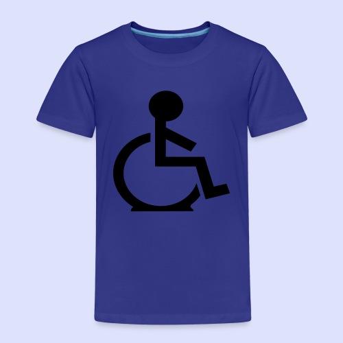 Rolstoel gebruiker met platte band - Kinderen Premium T-shirt