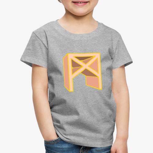 Rune Mannaz in Living-Coral - Kinder Premium T-Shirt
