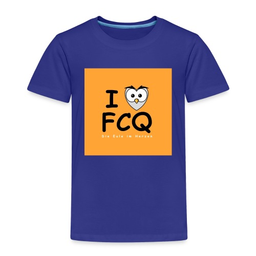 I Love FCQ button orange - Kinder Premium T-Shirt
