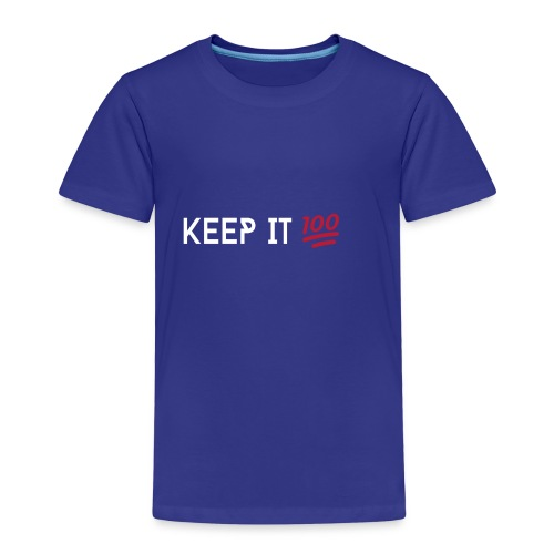KEEP IT 100 WIT png - Kinderen Premium T-shirt