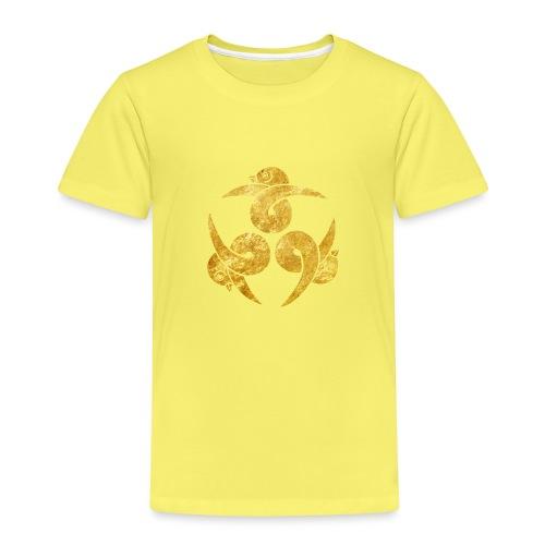 Three Geese Japanese Kamon in gold - Kids' Premium T-Shirt