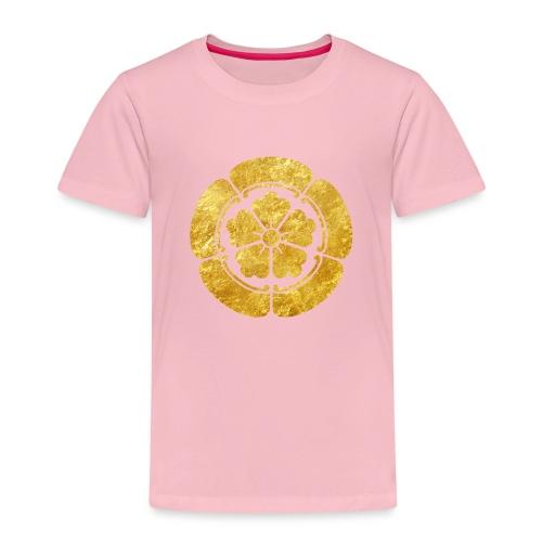 Oda Mon Japanese samurai clan faux gold on black - Kids' Premium T-Shirt
