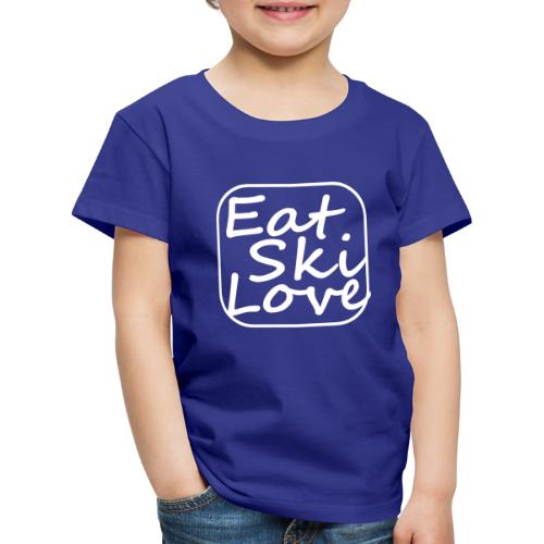 eat ski love - Kinderen Premium T-shirt