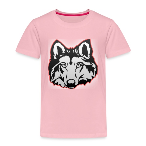 Wolfie (Red) - Kids' Premium T-Shirt
