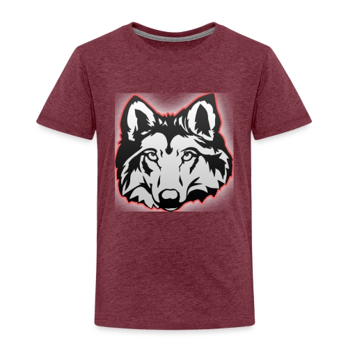 Wolfie (Red) - Kids' Premium T-Shirt