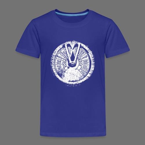 Maschinentelegraph (hvid oldstyle) - Børne premium T-shirt