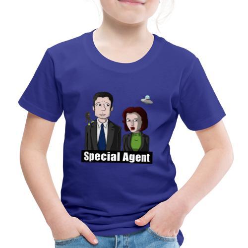 FBI-Spezialagent & UFO (groß, Variante 2) - Kinder Premium T-Shirt