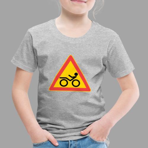 Traffic sign Recumbent - Lasten premium t-paita