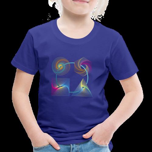 Regenbogen Geometrie - Kinder Premium T-Shirt