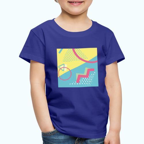 Pastel turquoise geometry - Kids' Premium T-Shirt