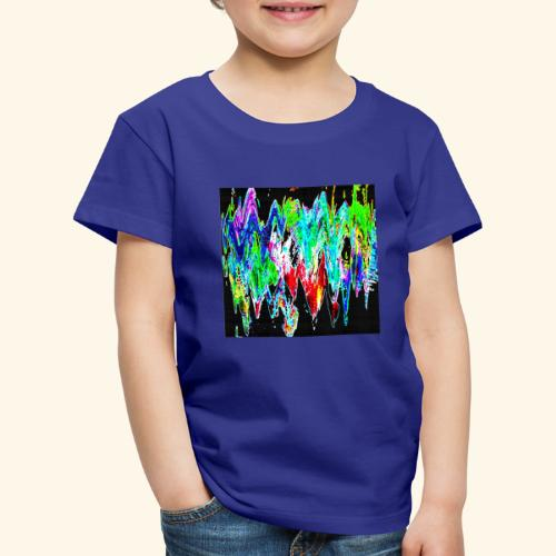Colori ondulati base nero - Maglietta Premium per bambini