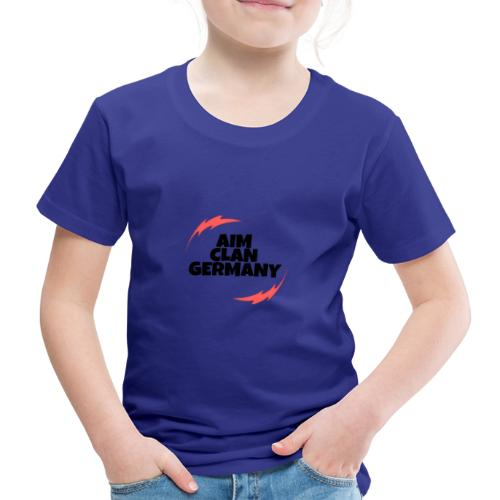 AIM CLAN GERMANY Logo Schwart - Kinder Premium T-Shirt