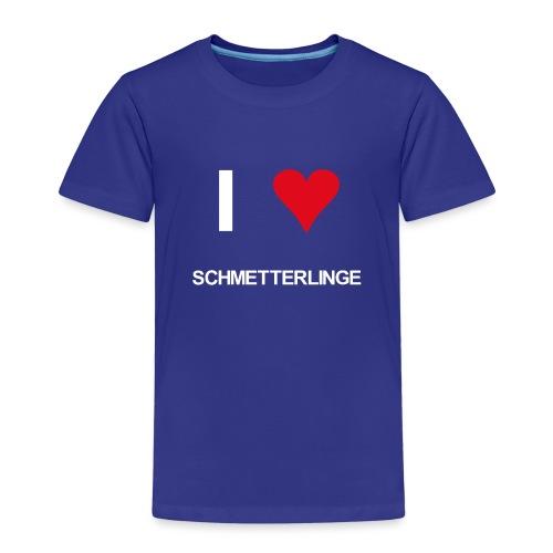 I love schmetterlinge - Kinder Premium T-Shirt