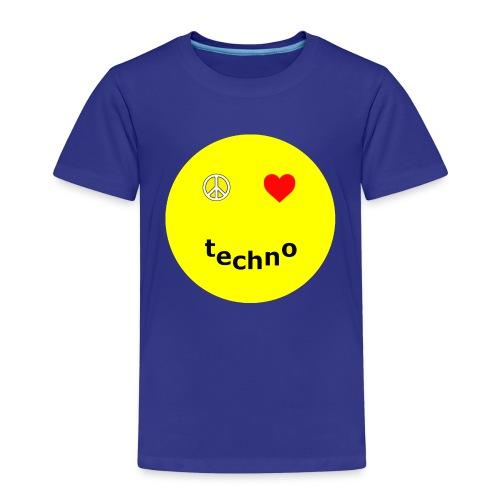 camiseta paz amor techno - Camiseta premium niño