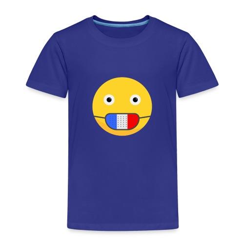 DESIGN EMOJI MASQUE COVID CORONA FRANCE - T-shirt Premium Enfant