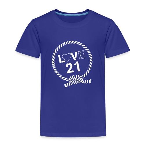 LOVE21 angled - Kids' Premium T-Shirt