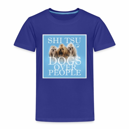 Dogs over people shi tzu Hunde - Kinder Premium T-Shirt