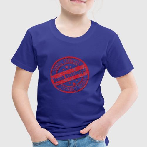 OFFICIAL DANE a png - Børne premium T-shirt