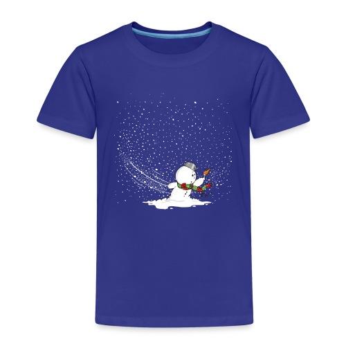 Schneemann im Sturm - Kinder Premium T-Shirt