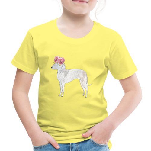 bedlington terrier with roses - Børne premium T-shirt