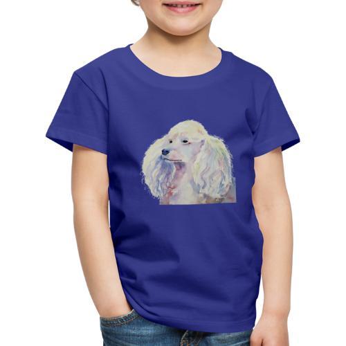 poodle standard white - Børne premium T-shirt