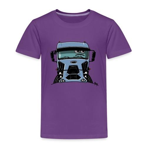 0812 F truck blue - Kinderen Premium T-shirt