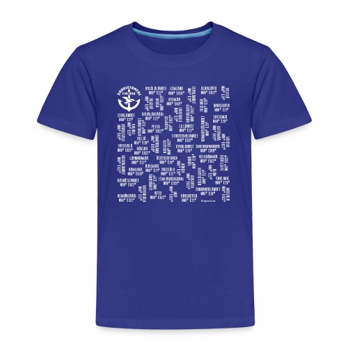 SAARISTOMERI SAARET Merelliset tekstiilit, lahjat - Lasten premium t-paita