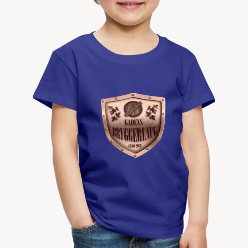 guld logo - Børne premium T-shirt