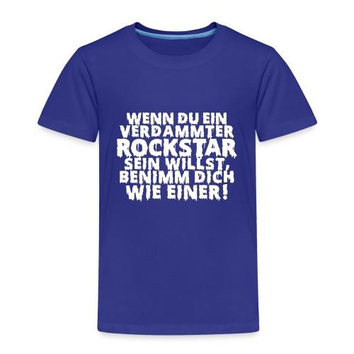 rock n roll Zitat Metal Bühne on stage - Kids' Premium T-Shirt