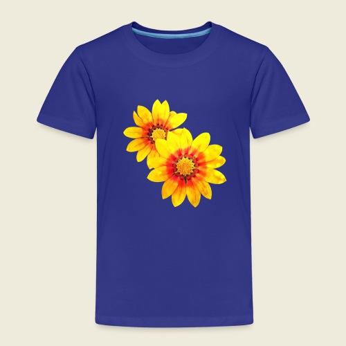 Leuchtende gelbe Blumen - Kinder Premium T-Shirt