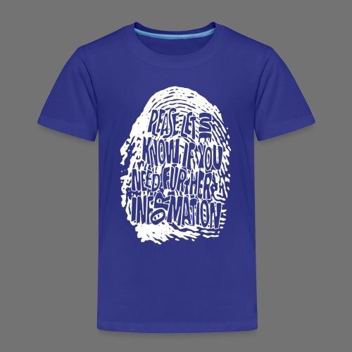 Fingerprint DNA (white) - Kids' Premium T-Shirt