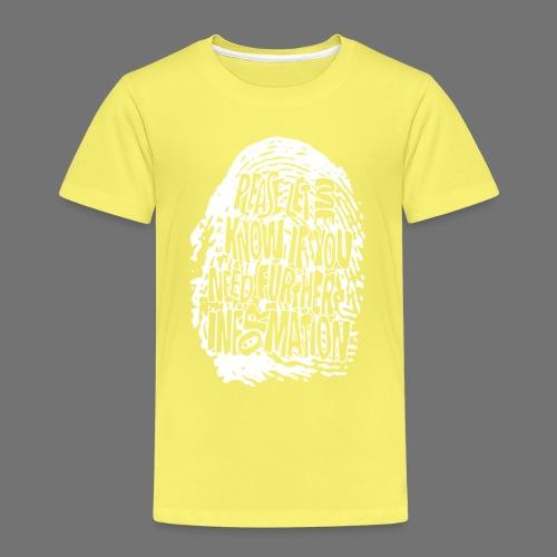 Fingerprint DNA (white) - Kinder Premium T-Shirt