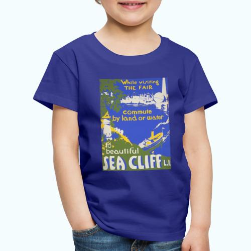 Lake travel vintage poster - Kids' Premium T-Shirt