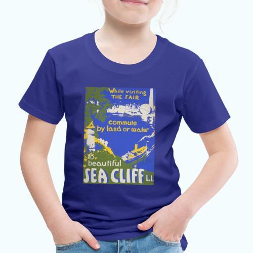 Lake travel vintage poster - Kids' Premium T-Shirt