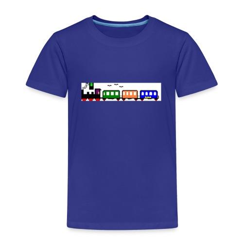 dampfender Zug - Kinder Premium T-Shirt