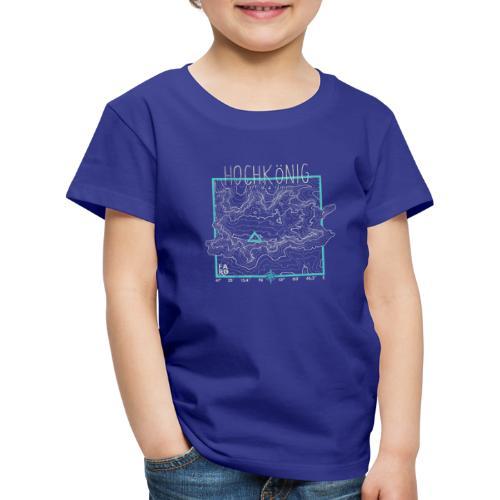 Hochkoenig Contour Lines - Square - Kids' Premium T-Shirt