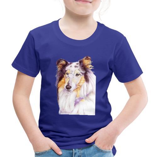 Collie bluemerle - Børne premium T-shirt