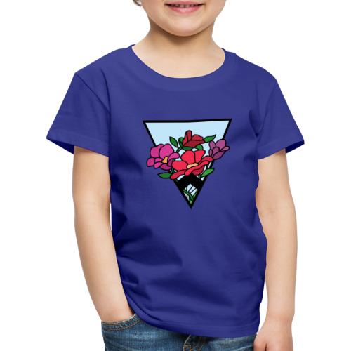 colourful flower bouquet in a triangle - Kids' Premium T-Shirt