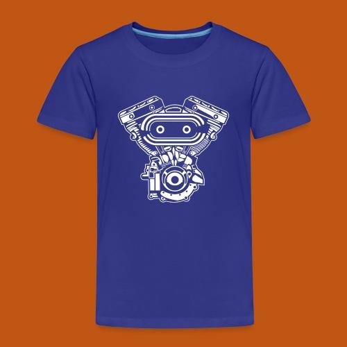Motorrad Motor / Engine 02_weiß - Kinder Premium T-Shirt