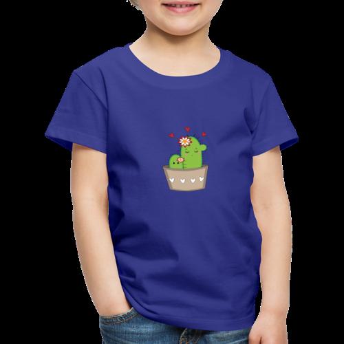 Kaktus Mama mit Kaktus Baby - Kinder Premium T-Shirt