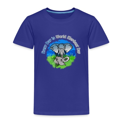 Every Day Is World Elephant Day - Kinder Premium T-Shirt