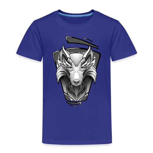 Wolf Tattoo Design - Kinder Premium T-Shirt
