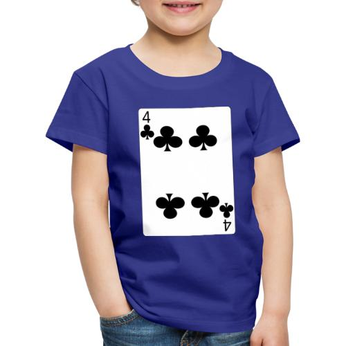4 of clubs - Kids' Premium T-Shirt
