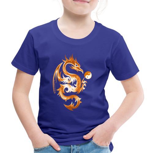 Der Drache spielt mit der Energie des Lebens. - Kinder Premium T-Shirt