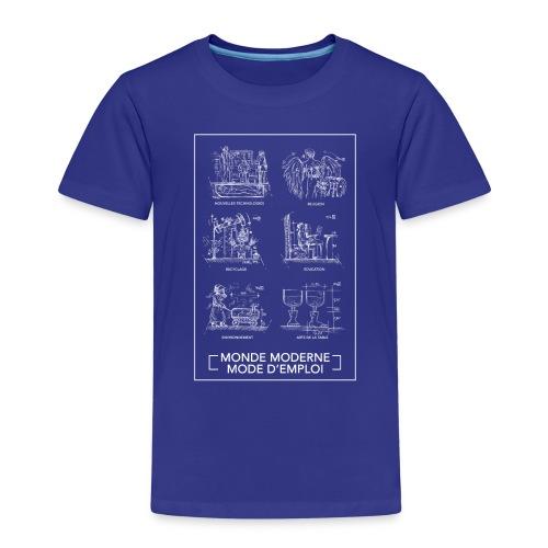 monde moderneblanc png - T-shirt Premium Enfant