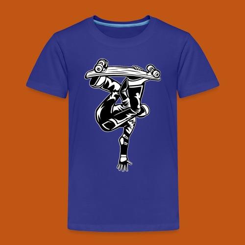 Skater / Skateboarder 03_schwarz weiß - Kinder Premium T-Shirt