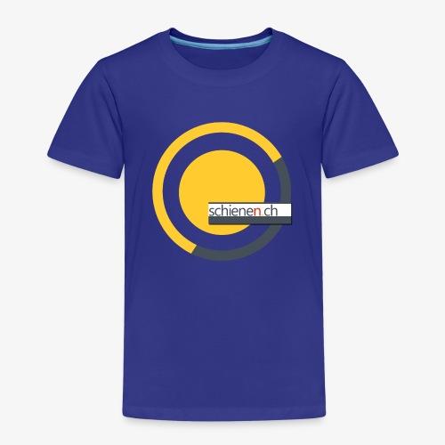 Logo «schienen.ch», gelb-grau - Kinder Premium T-Shirt