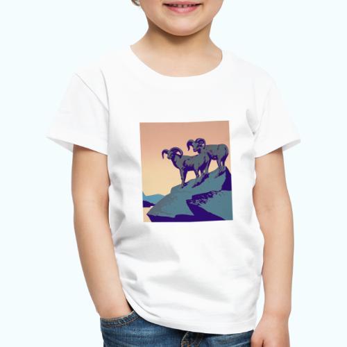 Vintage Capricorn Travel Poster - Kids' Premium T-Shirt