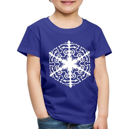 Schneeflocke Ornament Pixellamb - Kinder Premium T-Shirt