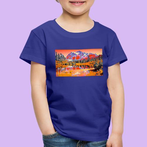 Montagne rosse punteggiate - Maglietta Premium per bambini